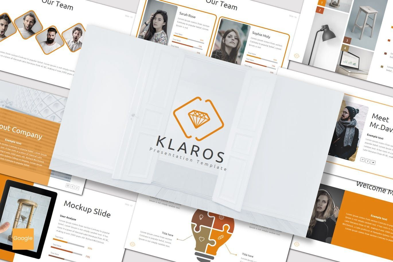 Klaros - Google Slides Template, 07248, Presentation Templates — PoweredTemplate.com