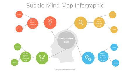 Business Models: Bubble Mind Map Diagram #07249