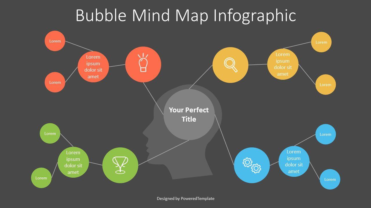 Bubble Mind Map Diagram, Slide 2, 07249, Business Models — PoweredTemplate.com