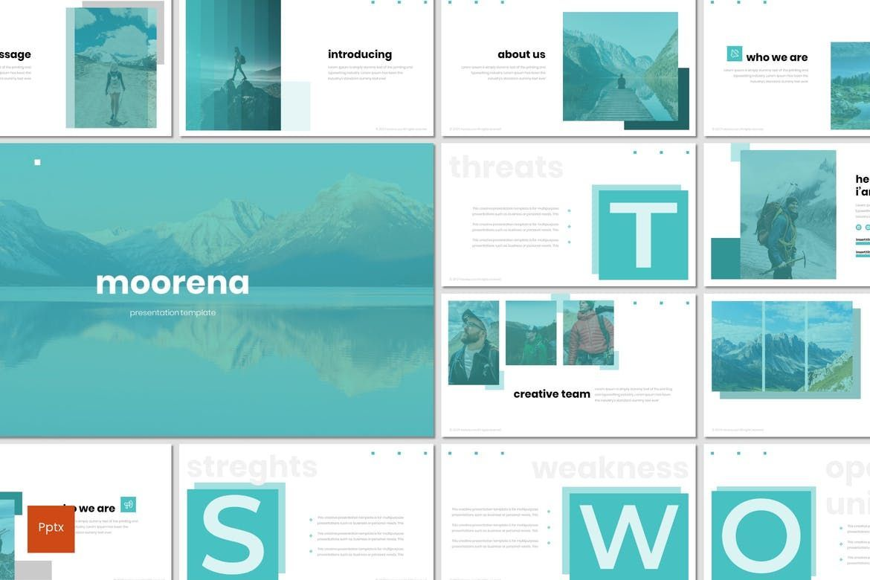 Moorena - PowerPoint Template, 07261, Presentation Templates — PoweredTemplate.com