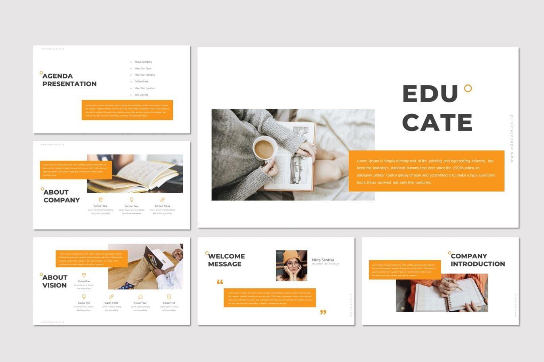 Educate - Google Slide Template, Slide 2, 07262, Presentation Templates — PoweredTemplate.com