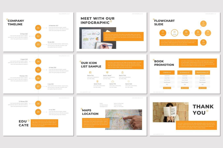 Educate - Google Slide Template, Slide 5, 07262, Presentation Templates — PoweredTemplate.com