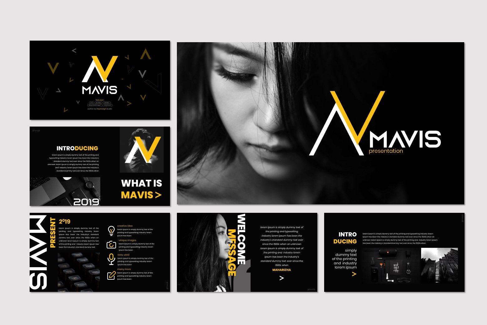 Mavis - PowerPoint Template, Slide 2, 07266, Presentation Templates — PoweredTemplate.com