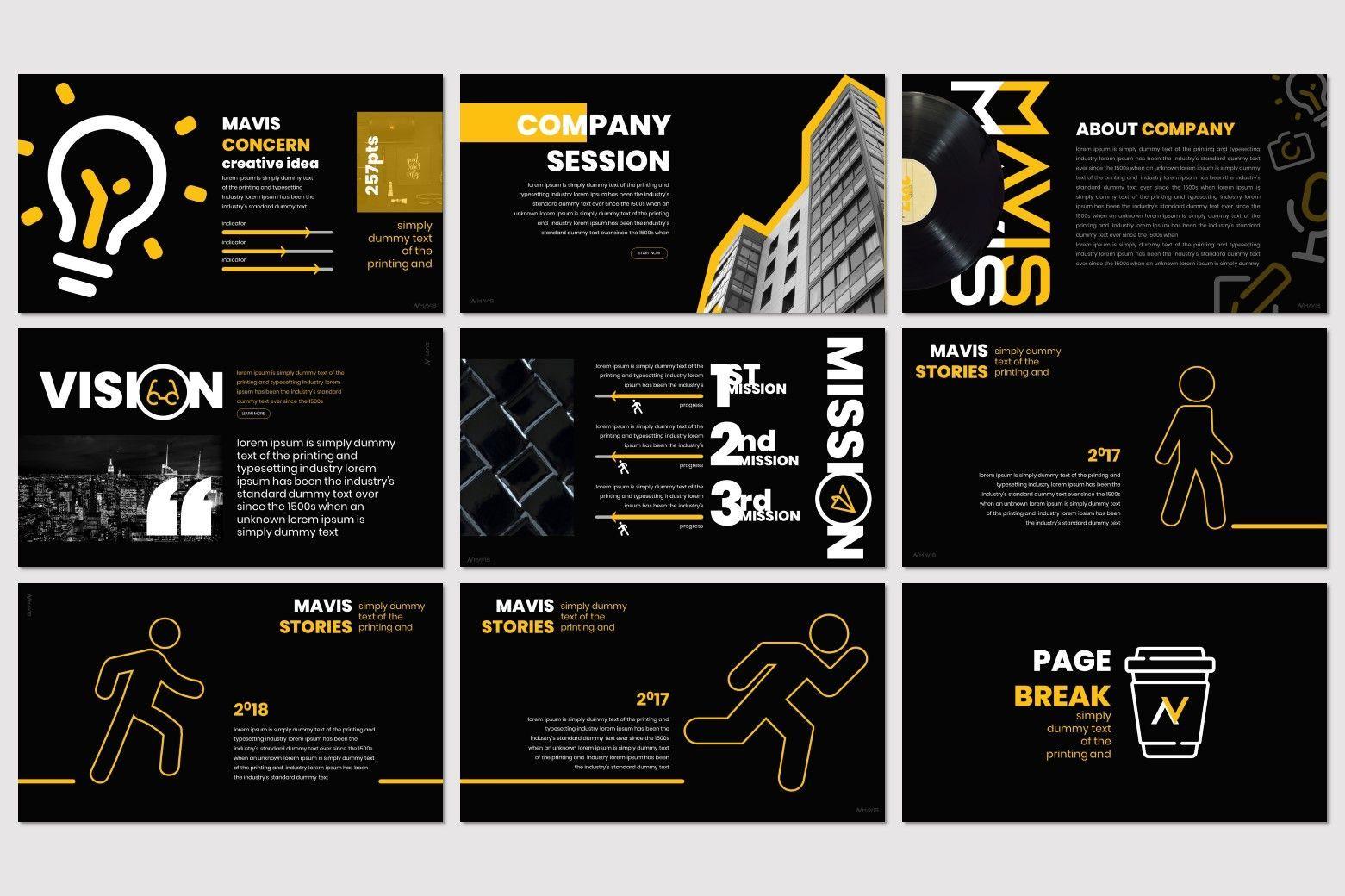 Mavis - PowerPoint Template, Slide 3, 07266, Presentation Templates — PoweredTemplate.com