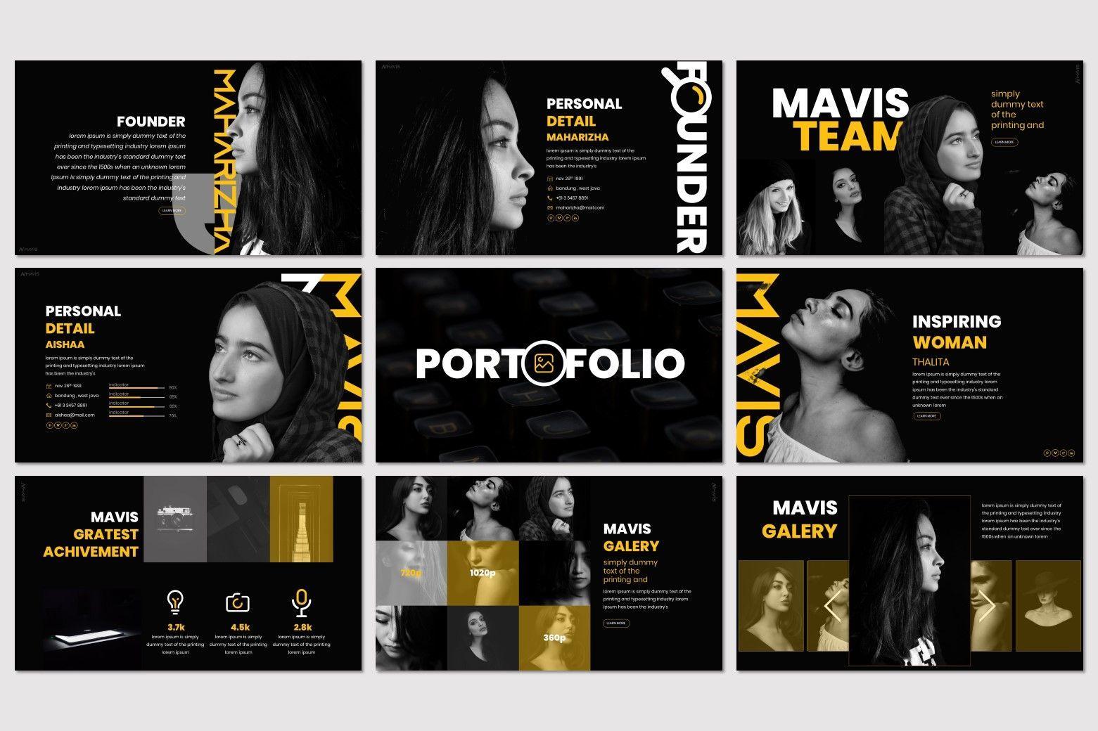 Mavis - PowerPoint Template, Slide 4, 07266, Presentation Templates — PoweredTemplate.com