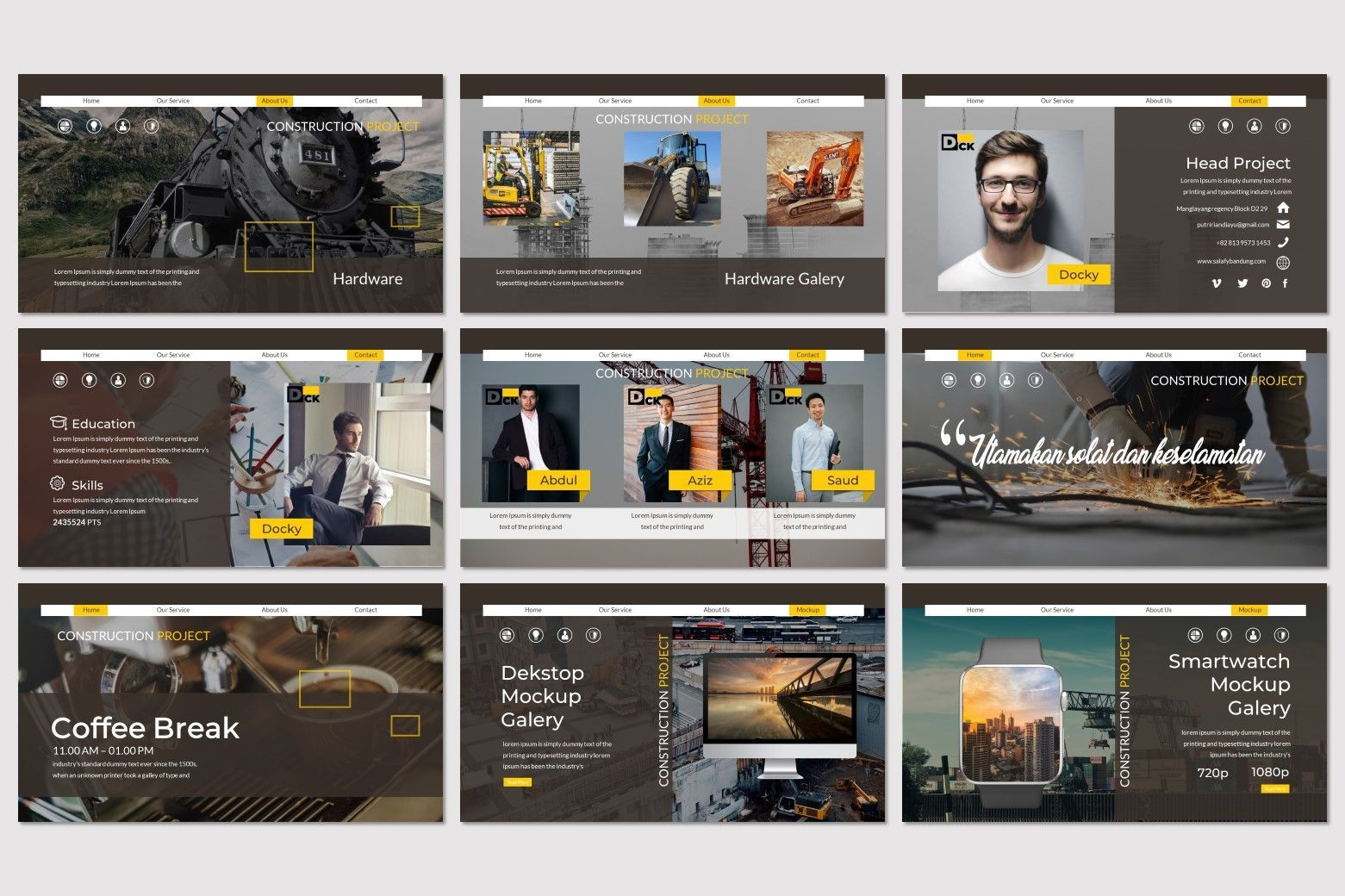 DCK - PowerPoint Template, Slide 4, 07271, Presentation Templates — PoweredTemplate.com