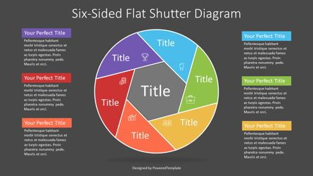 Infographics: Colorful Six Sided Flat Shutter Diagram #07273