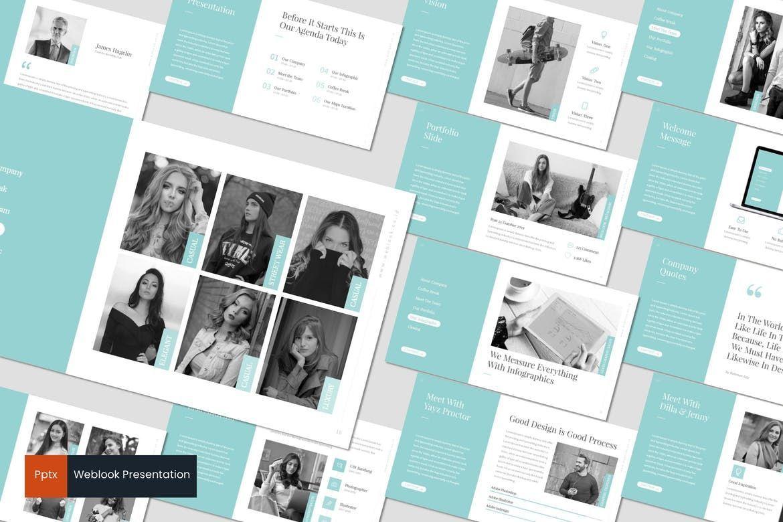 Weblook - PowerPoint Template, 07276, Presentation Templates — PoweredTemplate.com