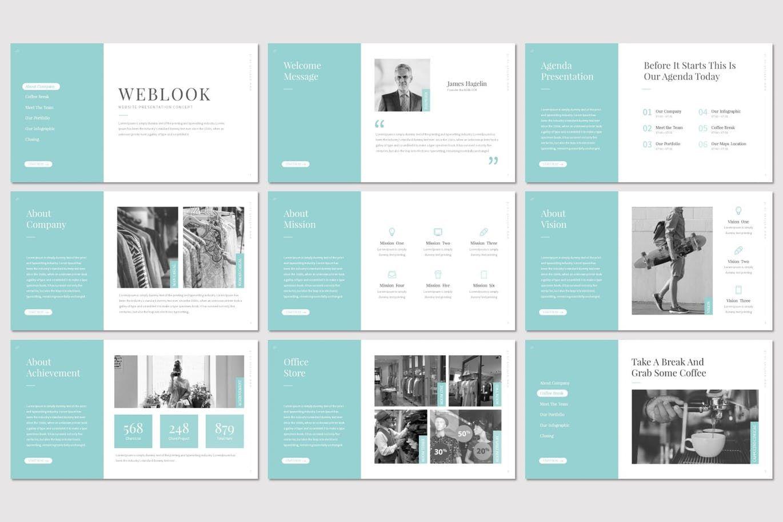 Weblook - PowerPoint Template, Slide 2, 07276, Presentation Templates — PoweredTemplate.com
