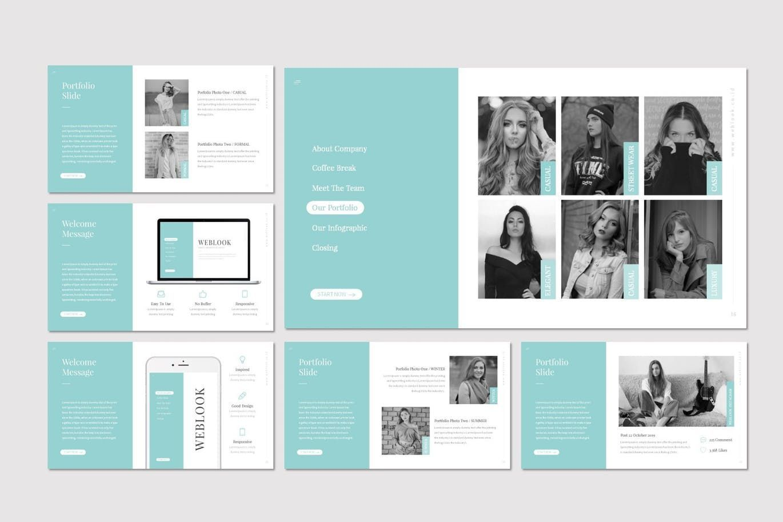 Weblook - PowerPoint Template, Slide 4, 07276, Presentation Templates — PoweredTemplate.com