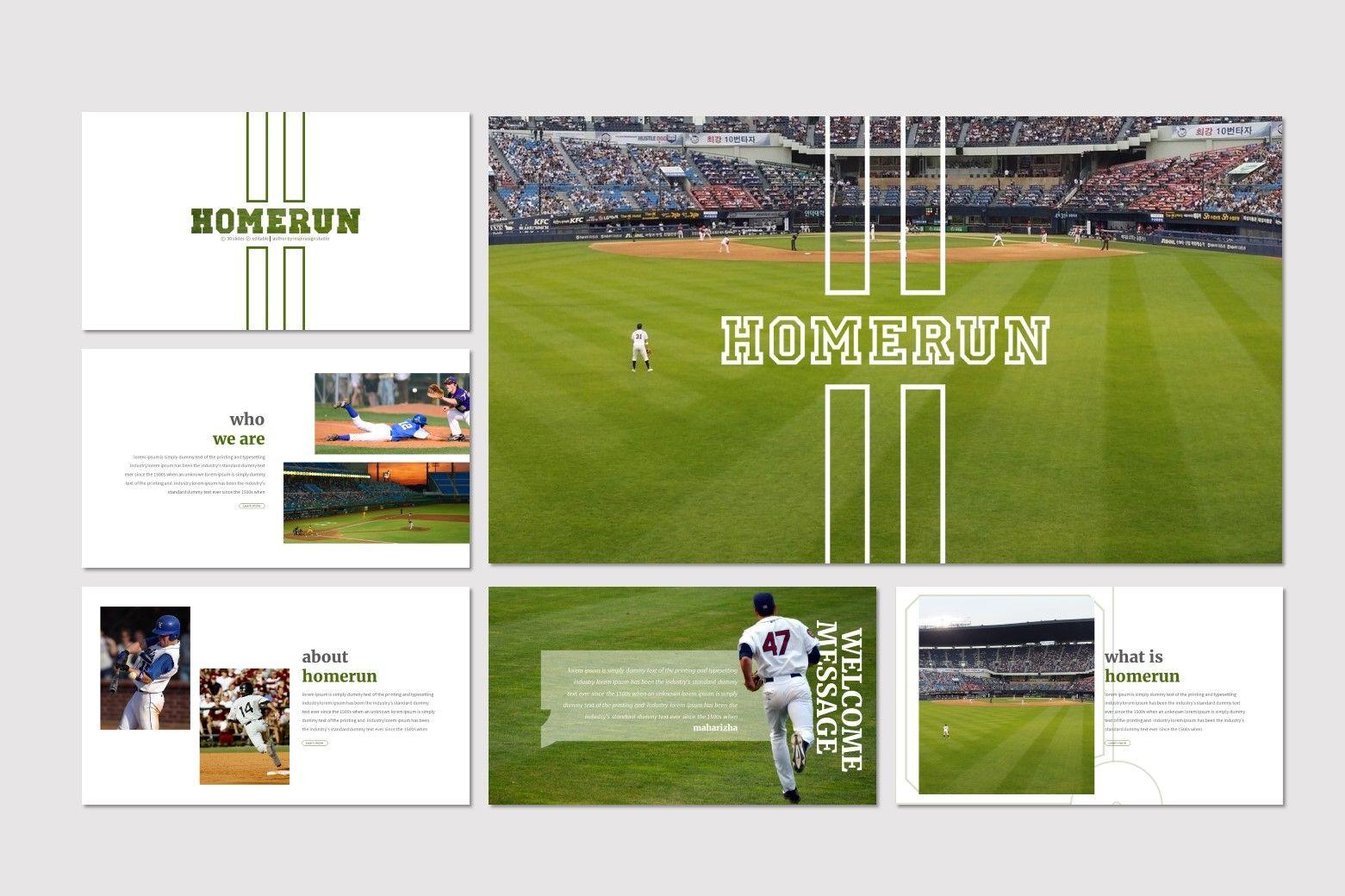 Homerun - Google Slides Template, Slide 2, 07278, Presentation Templates — PoweredTemplate.com