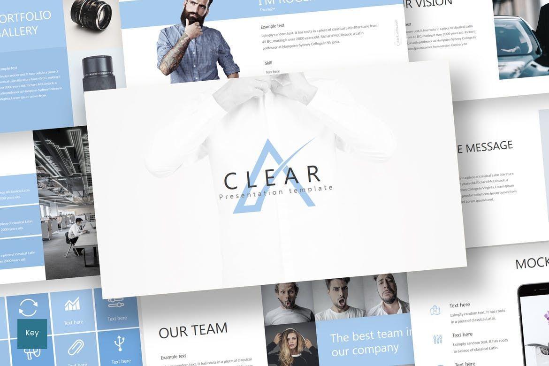 Clear - Keynote Template, 07283, Presentation Templates — PoweredTemplate.com