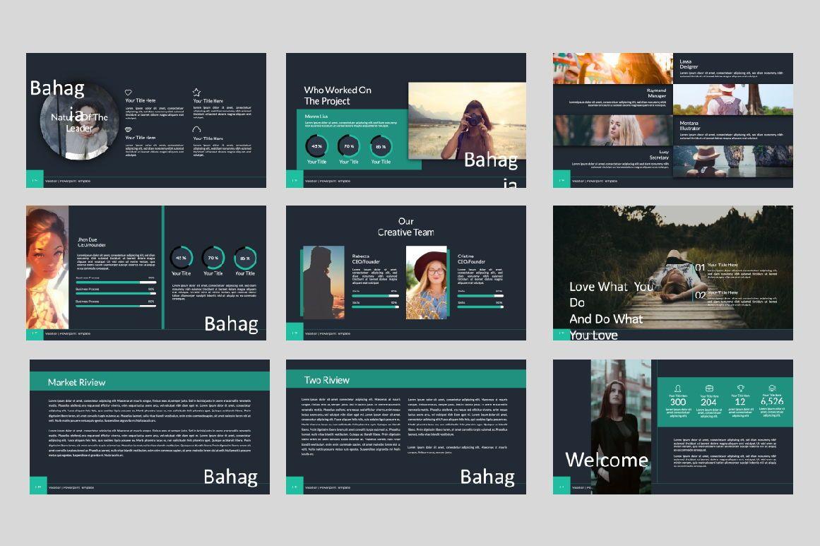Bahagia Creative Keynote, 07287, Presentation Templates — PoweredTemplate.com
