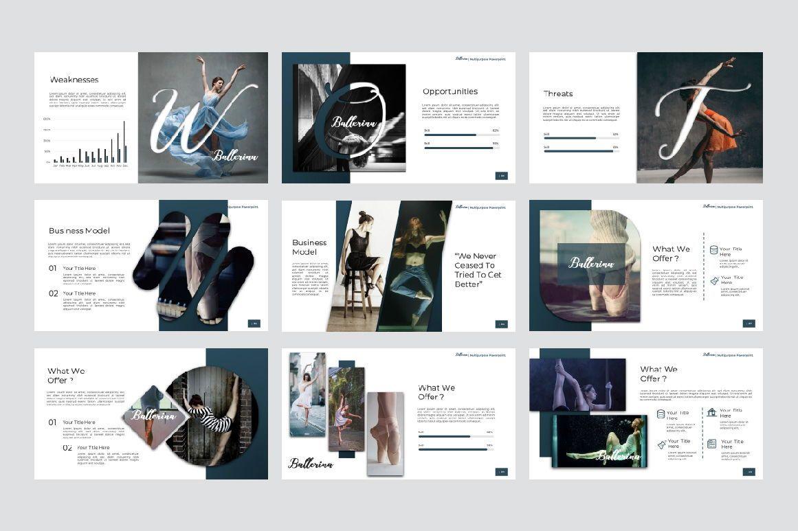 Ballerina Business Powerpoint, Slide 5, 07290, Presentation Templates — PoweredTemplate.com