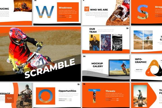 Presentation Templates: Scramble - PowerPoint Template #07291