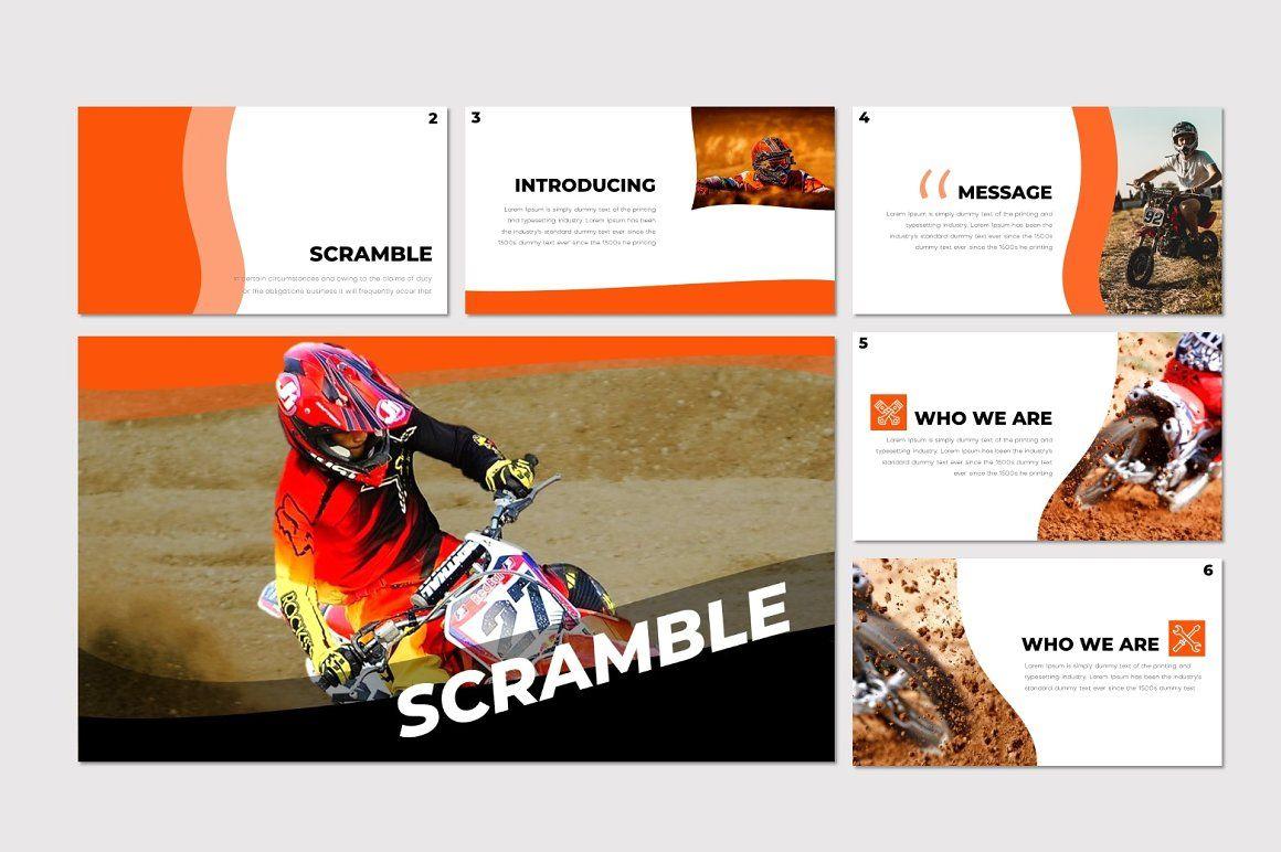 Scramble - PowerPoint Template, Slide 2, 07291, Presentation Templates — PoweredTemplate.com