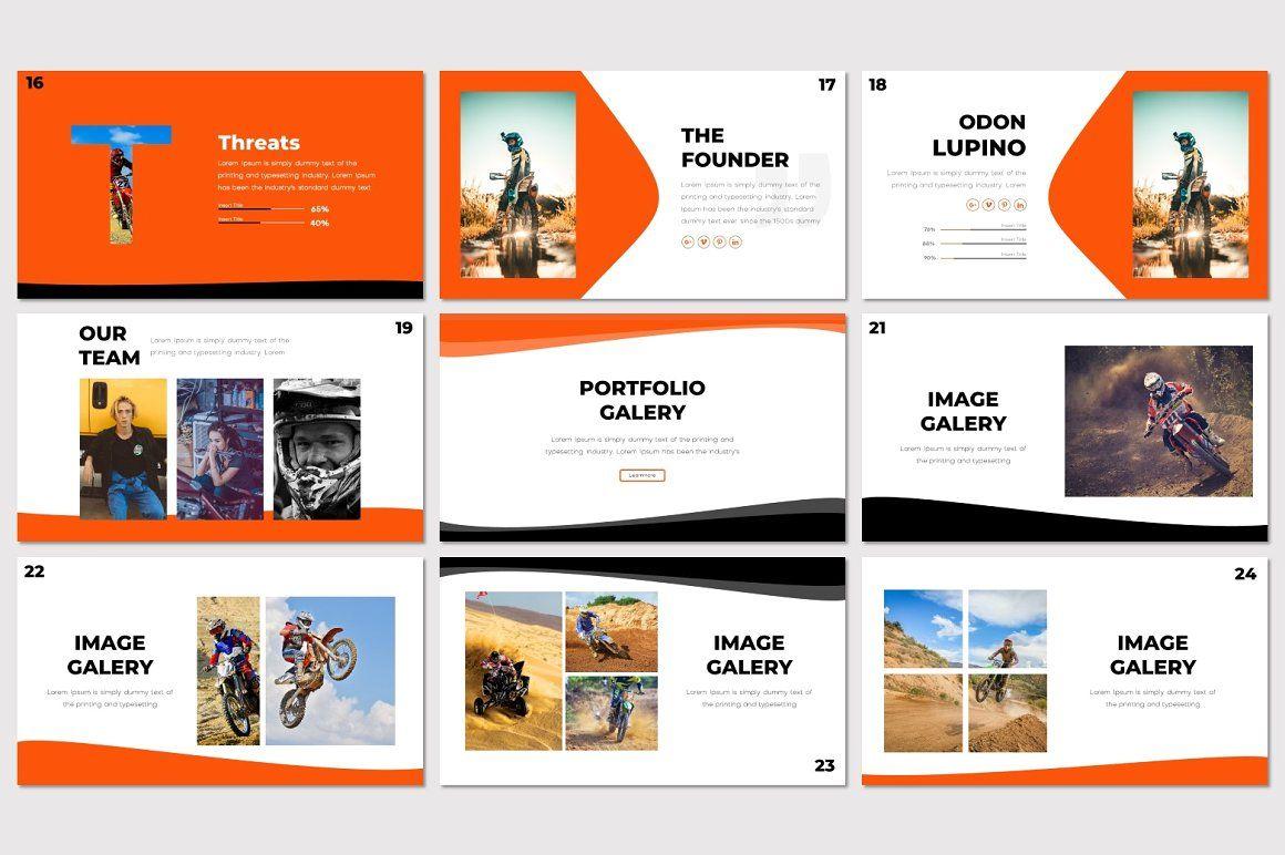 Scramble - PowerPoint Template, Slide 4, 07291, Presentation Templates — PoweredTemplate.com