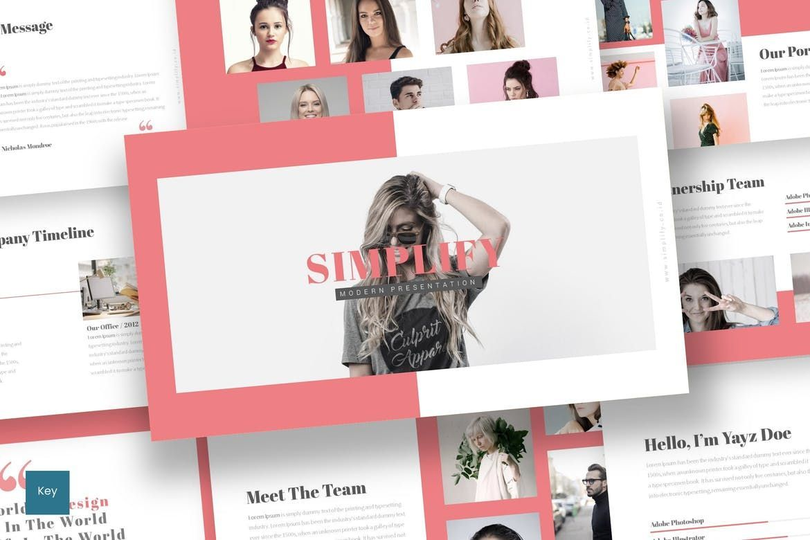 Simplify - Keynote Template, 07294, Presentation Templates — PoweredTemplate.com