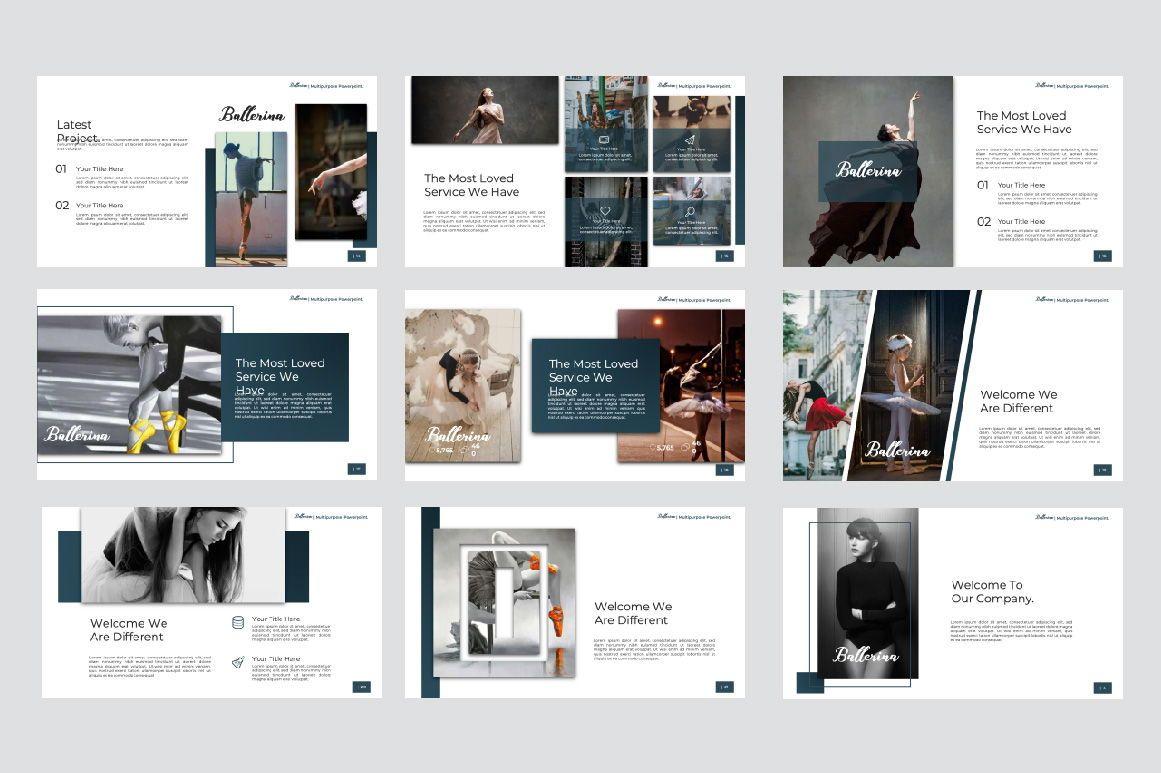 Ballerina Business Google Slide, Slide 2, 07295, Presentation Templates — PoweredTemplate.com