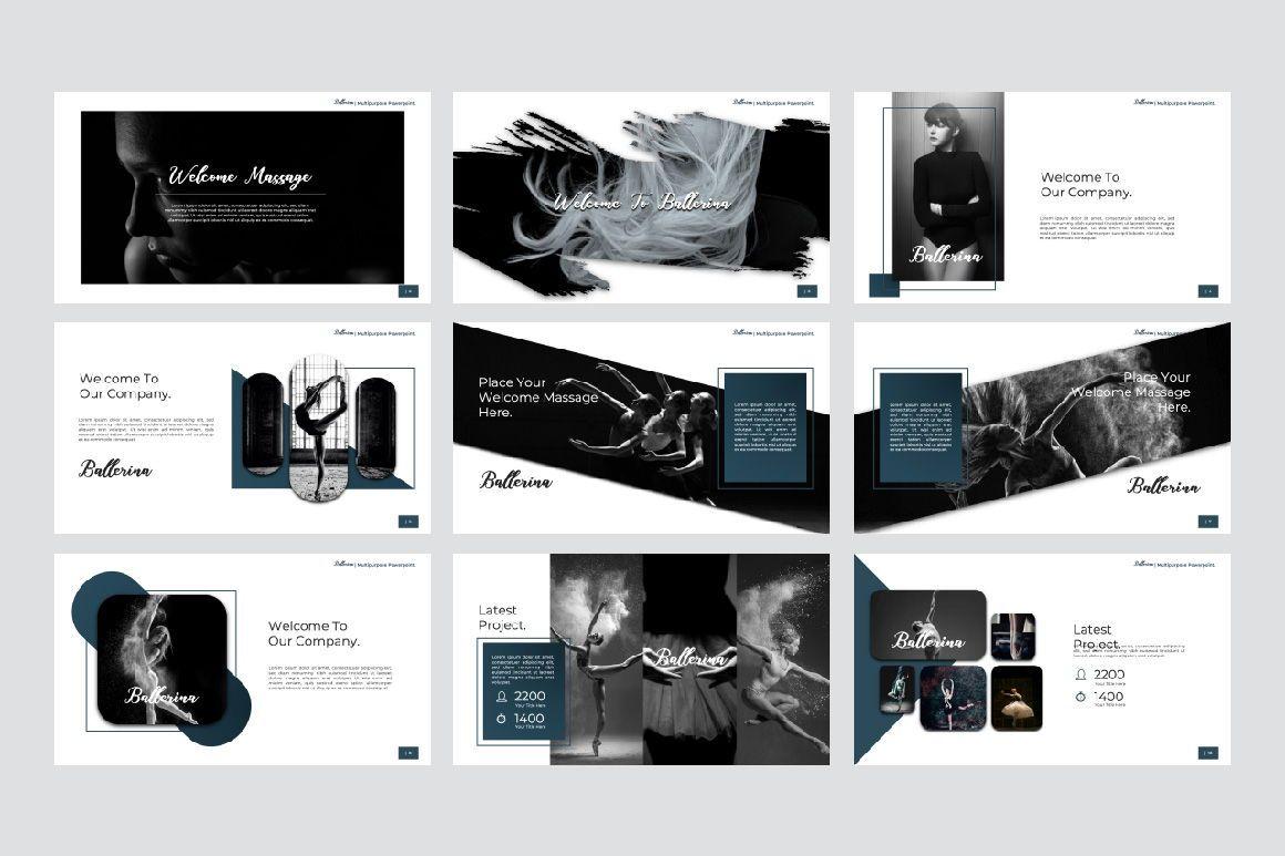Ballerina Business Google Slide, Slide 3, 07295, Presentation Templates — PoweredTemplate.com