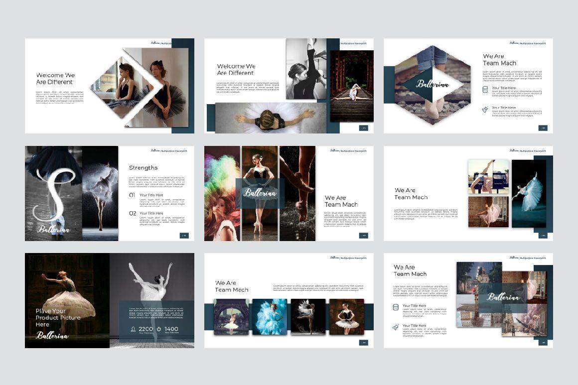 Ballerina Business Google Slide, Slide 4, 07295, Presentation Templates — PoweredTemplate.com