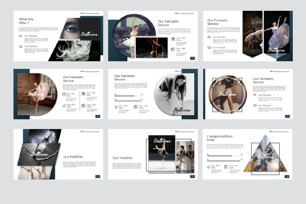 Ballerina Business Google Slide, Slide 6, 07295, Presentation Templates — PoweredTemplate.com
