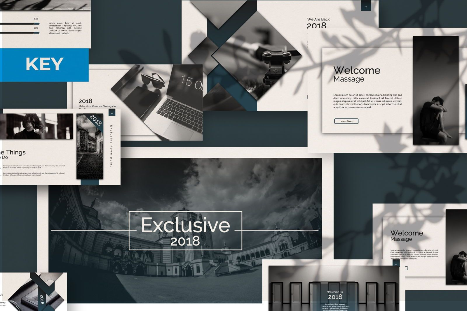Exclusive Business Keynote, 07299, Presentation Templates — PoweredTemplate.com