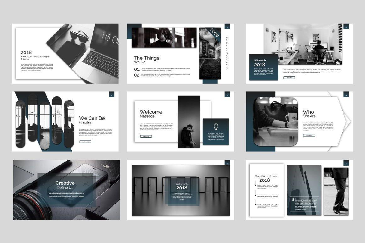 Exclusive Business Keynote, Slide 2, 07299, Presentation Templates — PoweredTemplate.com