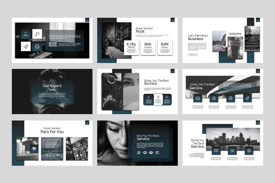 Exclusive Business Keynote, Slide 6, 07299, Presentation Templates — PoweredTemplate.com