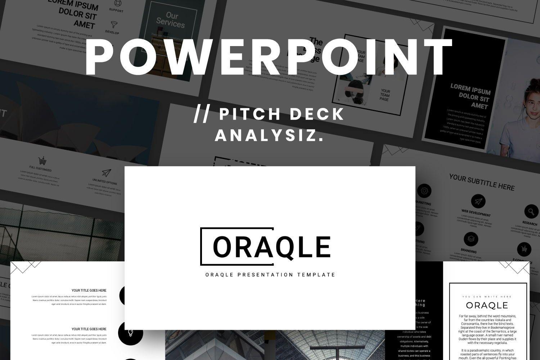 Oraqle Creative Powerpoint, 07301, Presentation Templates — PoweredTemplate.com
