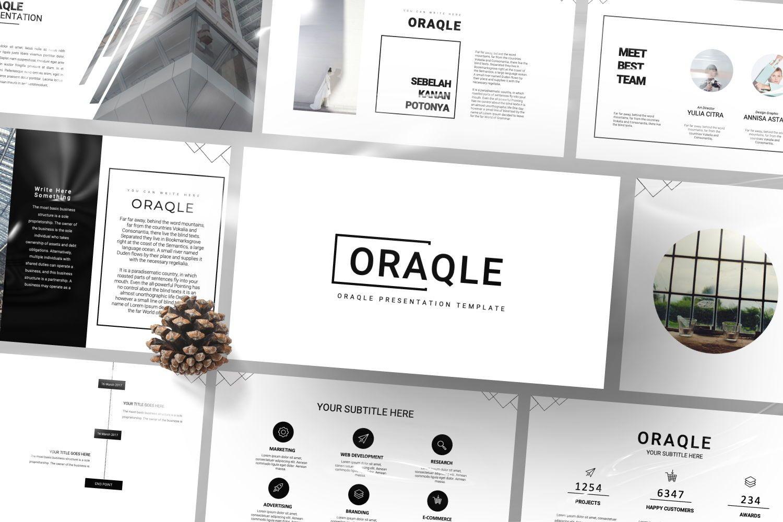 Oraqle Creative Powerpoint, Slide 2, 07301, Presentation Templates — PoweredTemplate.com