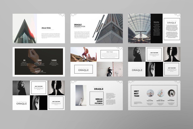 Oraqle Creative Powerpoint, Slide 4, 07301, Presentation Templates — PoweredTemplate.com