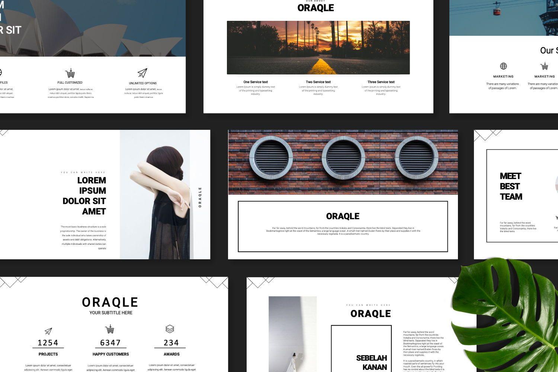 Oraqle Creative Powerpoint, Slide 6, 07301, Presentation Templates — PoweredTemplate.com