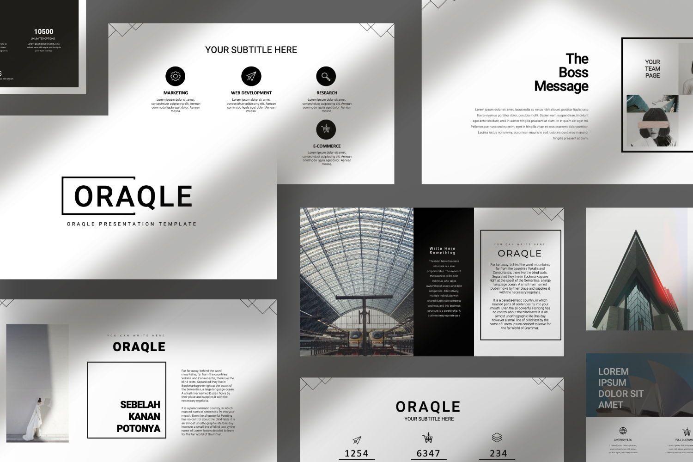 Oraqle Creative Powerpoint, Slide 7, 07301, Presentation Templates — PoweredTemplate.com