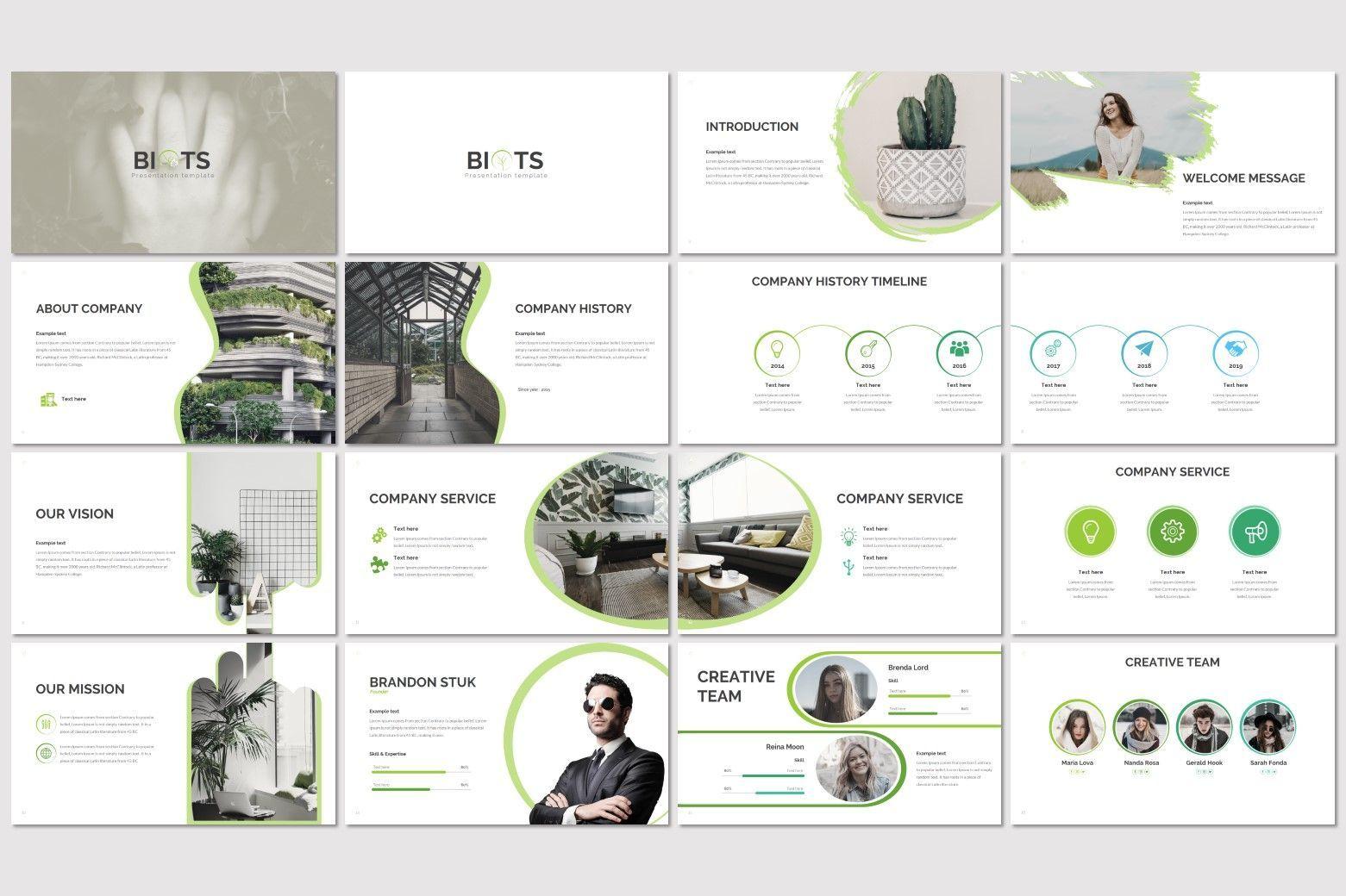 Biots - PowerPoint Template, Slide 2, 07302, Presentation Templates — PoweredTemplate.com