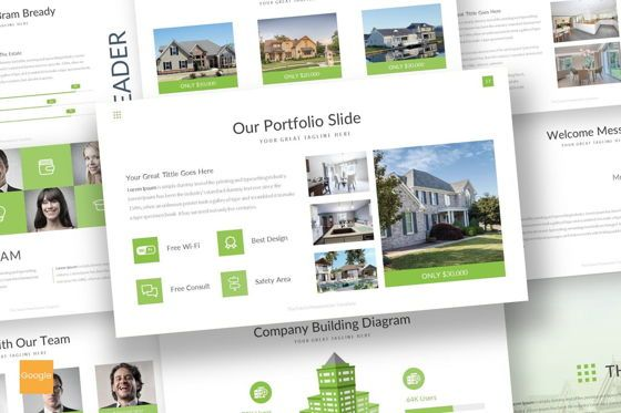 Presentation Templates: The Estate - Google Slides Template #07306