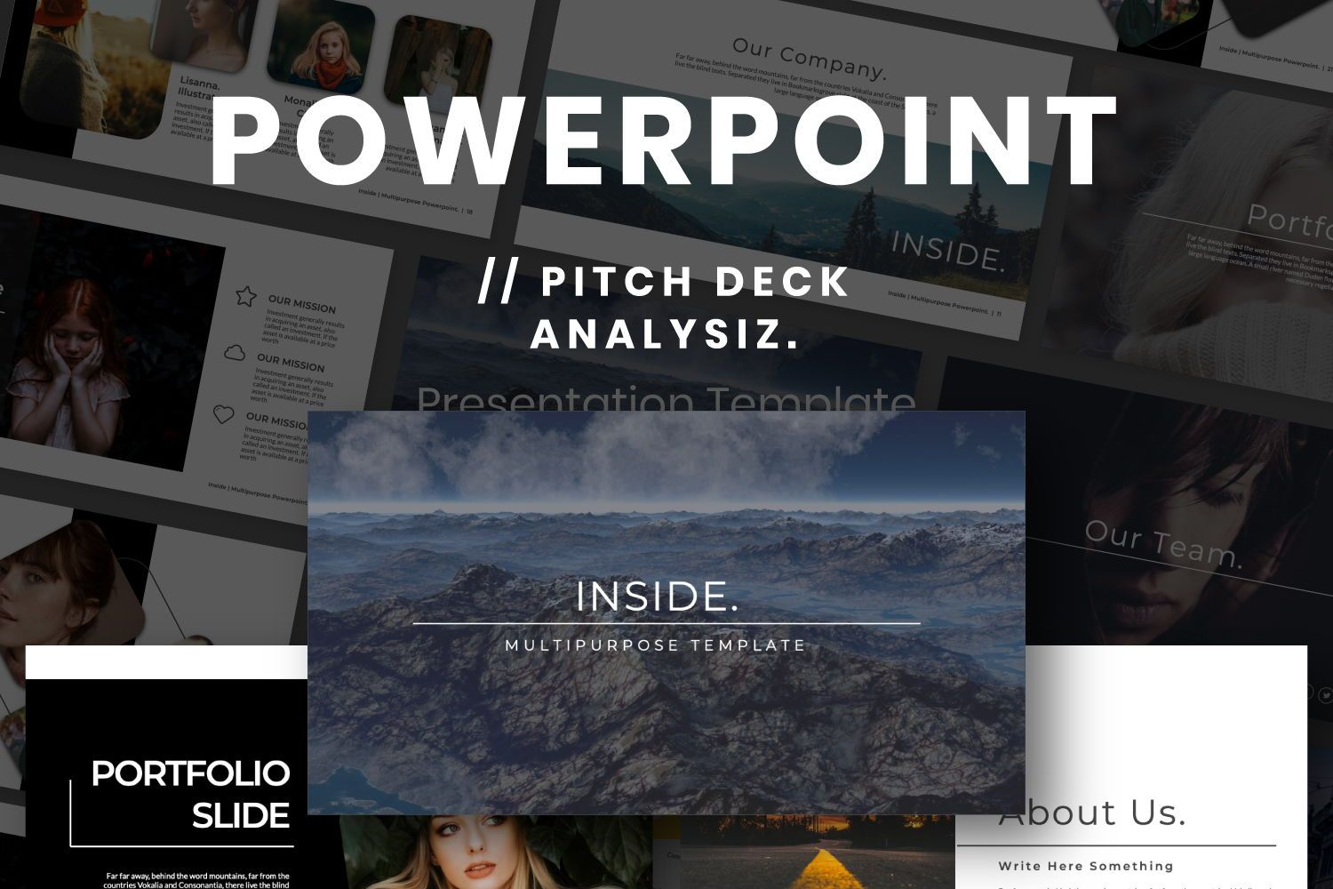 Inside Creative Powerpoint, 07311, Presentation Templates — PoweredTemplate.com