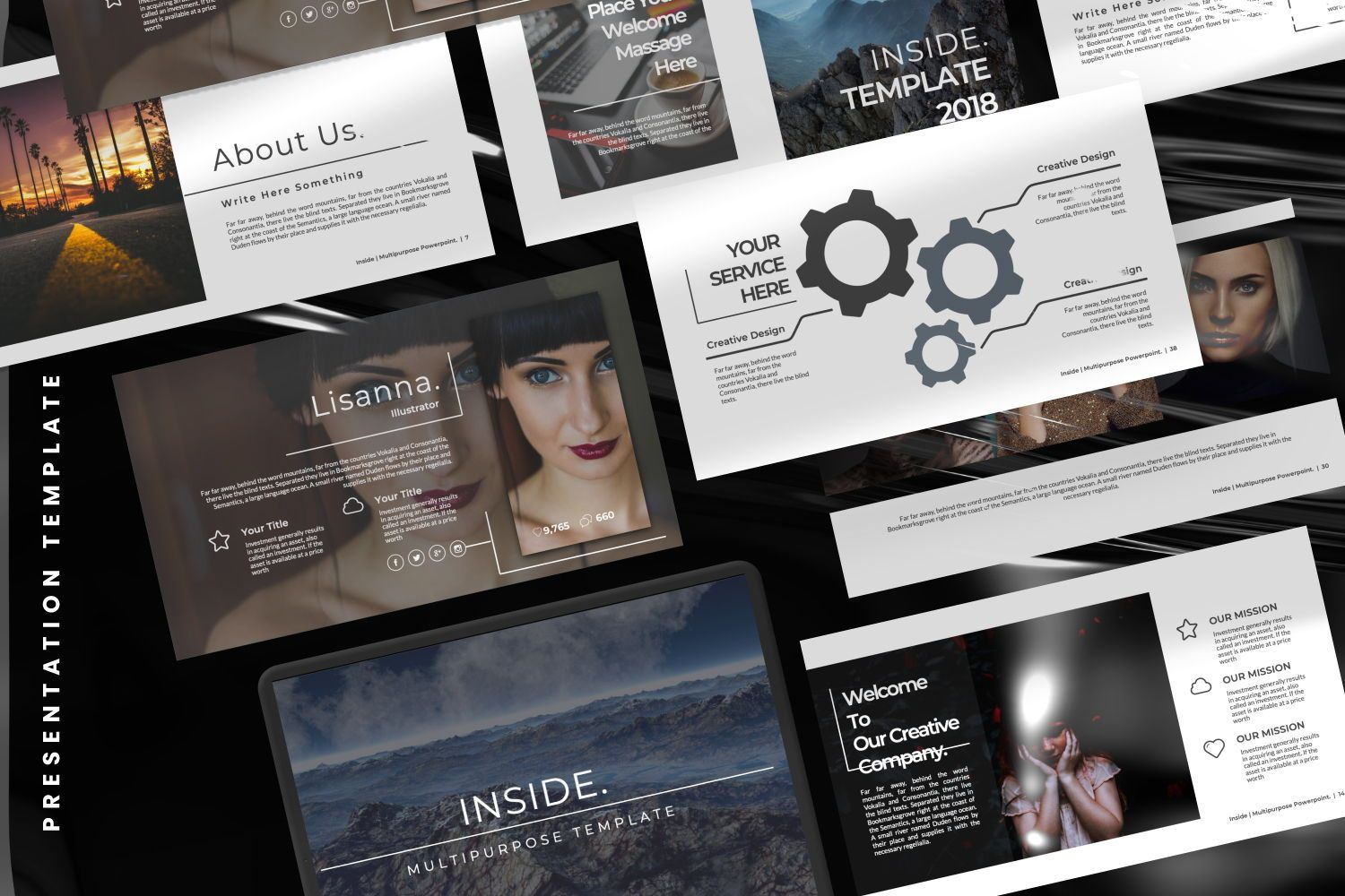 Inside Creative Powerpoint, Slide 2, 07311, Presentation Templates — PoweredTemplate.com