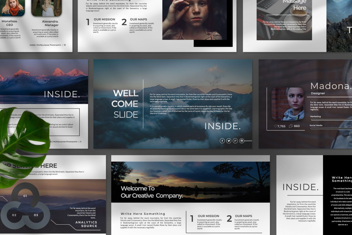 Inside Creative Powerpoint, Slide 6, 07311, Presentation Templates — PoweredTemplate.com