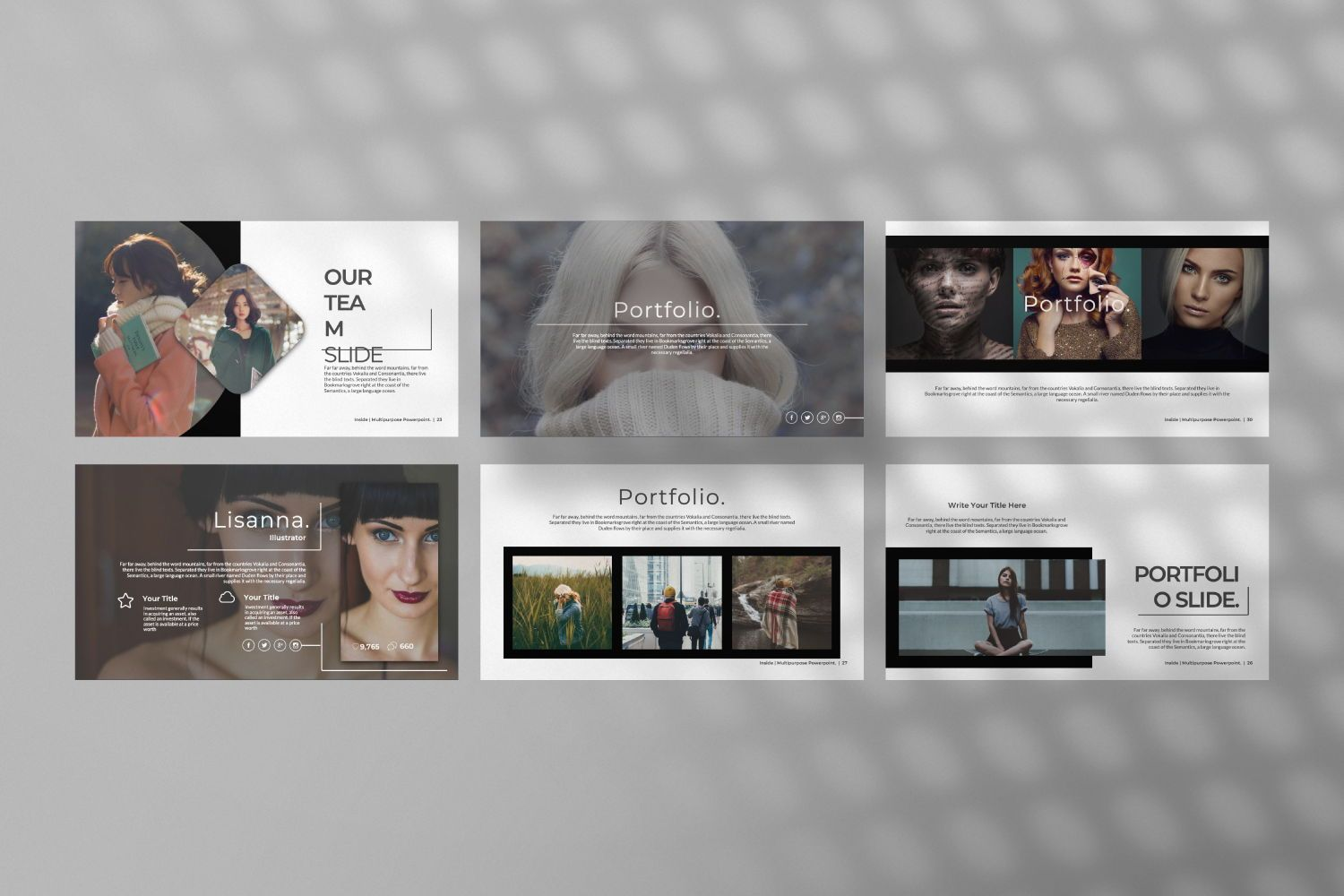 Inside Creative Powerpoint, Slide 9, 07311, Presentation Templates — PoweredTemplate.com
