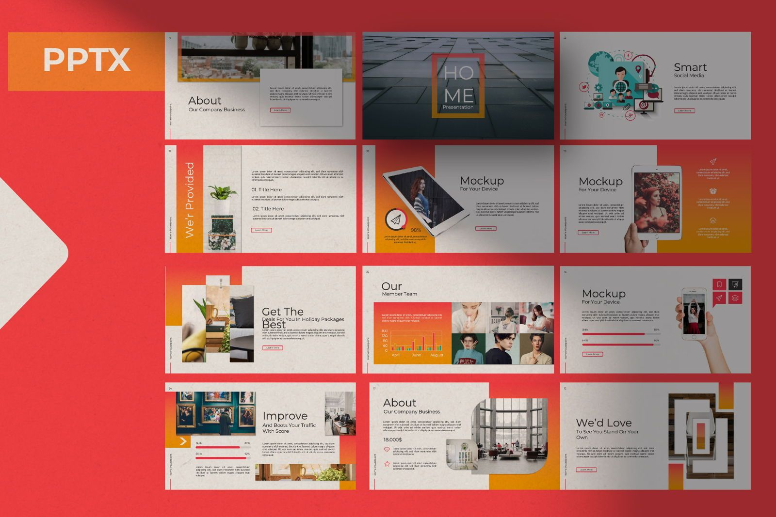 Home Business Powerpoint, 07313, Presentation Templates — PoweredTemplate.com
