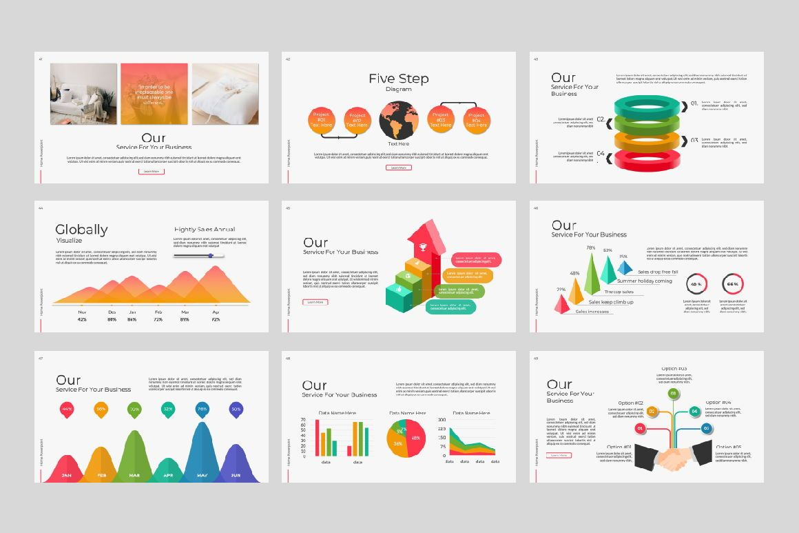 Home Business Powerpoint, Slide 4, 07313, Presentation Templates — PoweredTemplate.com