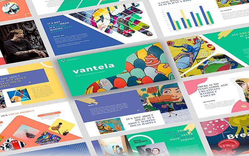 Vantela - Pop Art Grafitti Google Slide Template, 07315, Presentation Templates — PoweredTemplate.com