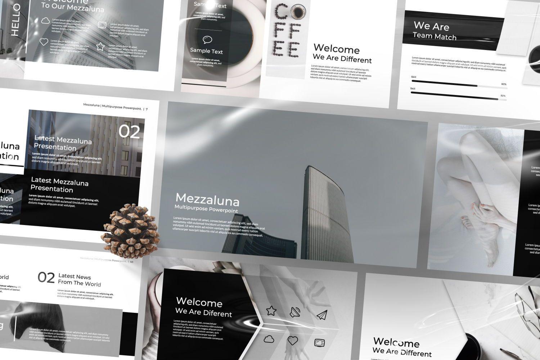 Mezzaluna Business Powerpoint, Slide 2, 07318, Presentation Templates — PoweredTemplate.com
