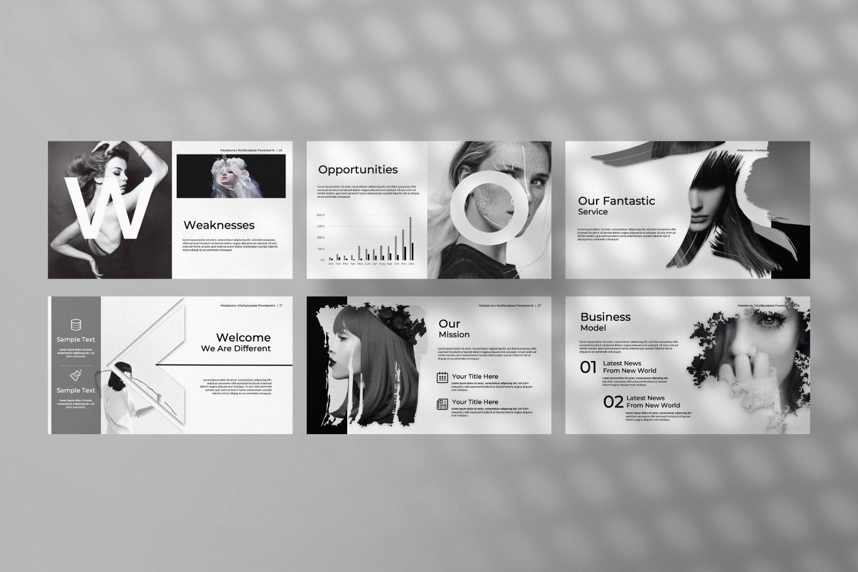 Mezzaluna Business Powerpoint, Slide 6, 07318, Presentation Templates — PoweredTemplate.com