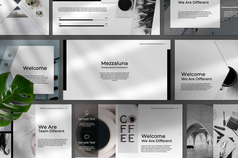 Mezzaluna Business Powerpoint, Slide 8, 07318, Presentation Templates — PoweredTemplate.com