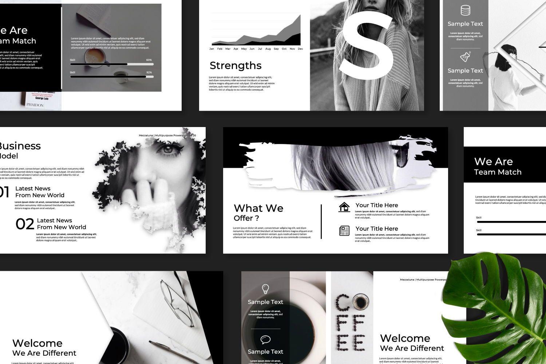 Mezzaluna Business Powerpoint, Slide 9, 07318, Presentation Templates — PoweredTemplate.com