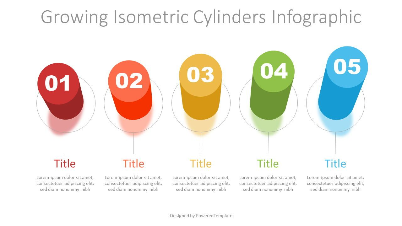 Growing Isometric Cylinders Infographic, Slide 2, 07321, Infographics — PoweredTemplate.com