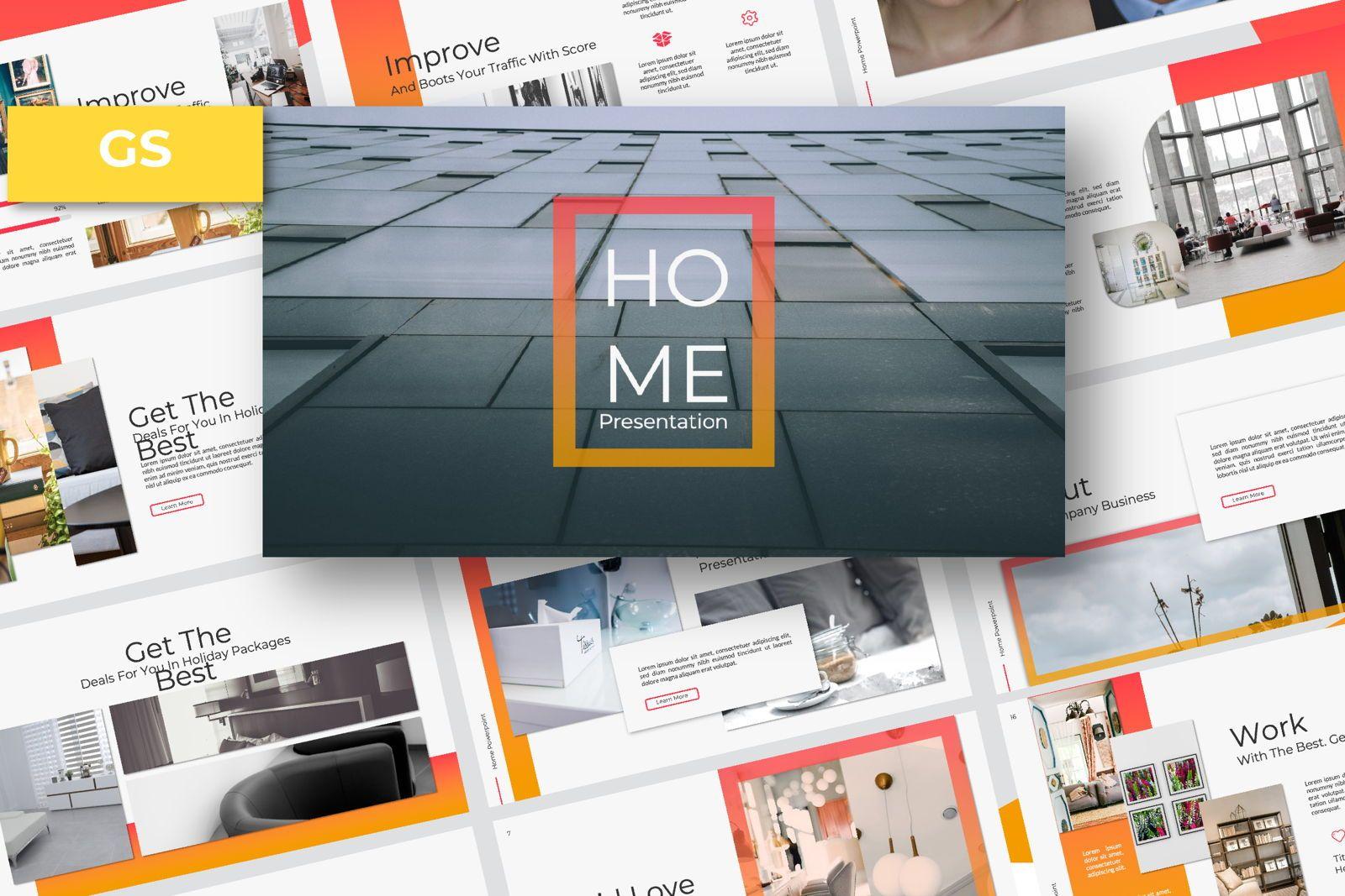 Home Business Google Slide, 07326, Presentation Templates — PoweredTemplate.com