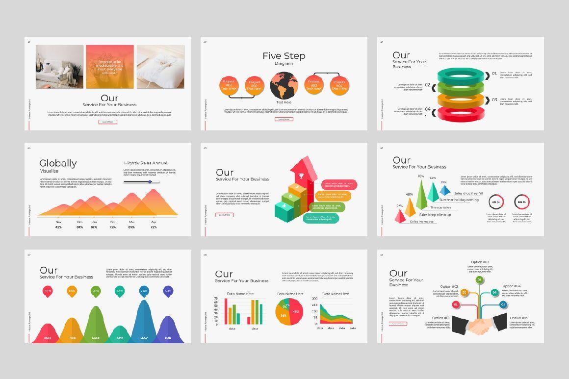 Home Business Google Slide, Slide 4, 07326, Presentation Templates — PoweredTemplate.com